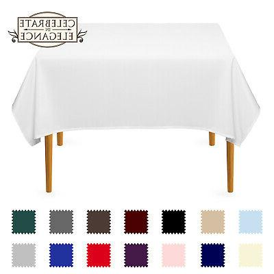 54 square wedding banquet polyester fabric tablecloth