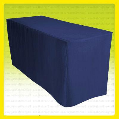 6 ft fitted tablecloth table cover wedding