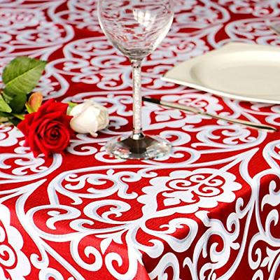 Eforcurtain 60 102 Inch Fashion Floral Tablecloth Stain