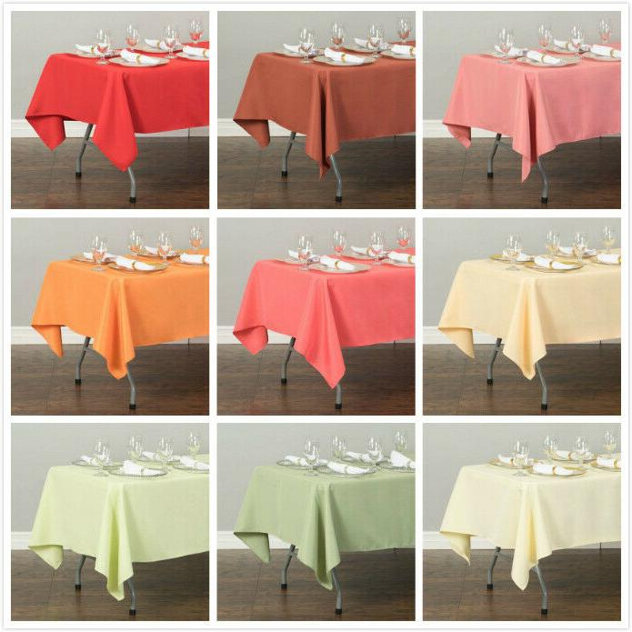 LinenTablecloth 60 x 126 in. Rect Polyester Tablecloths for