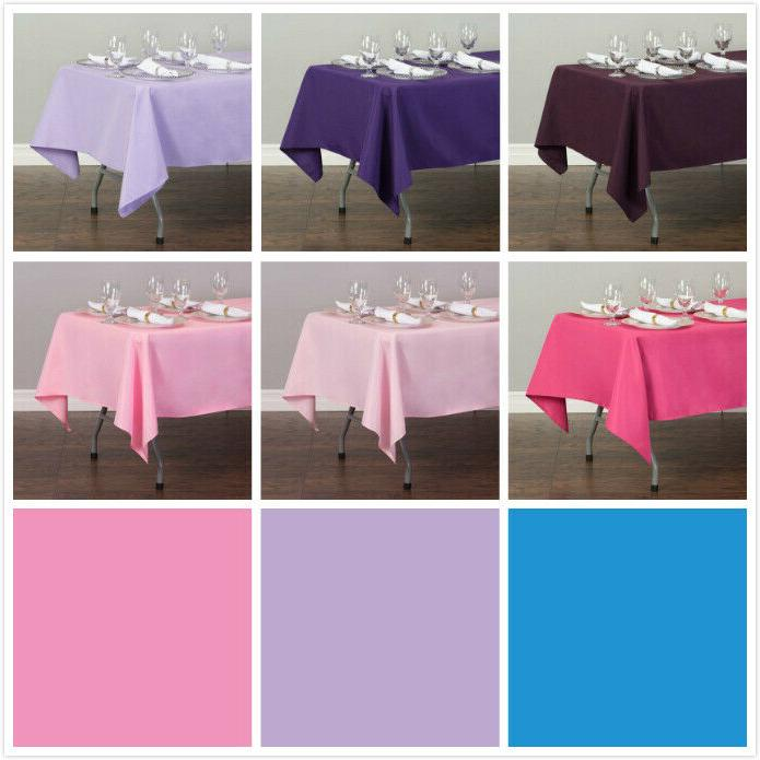 LinenTablecloth 60 x in.Rectangular Polyester Tablecloth Wedding Event Party