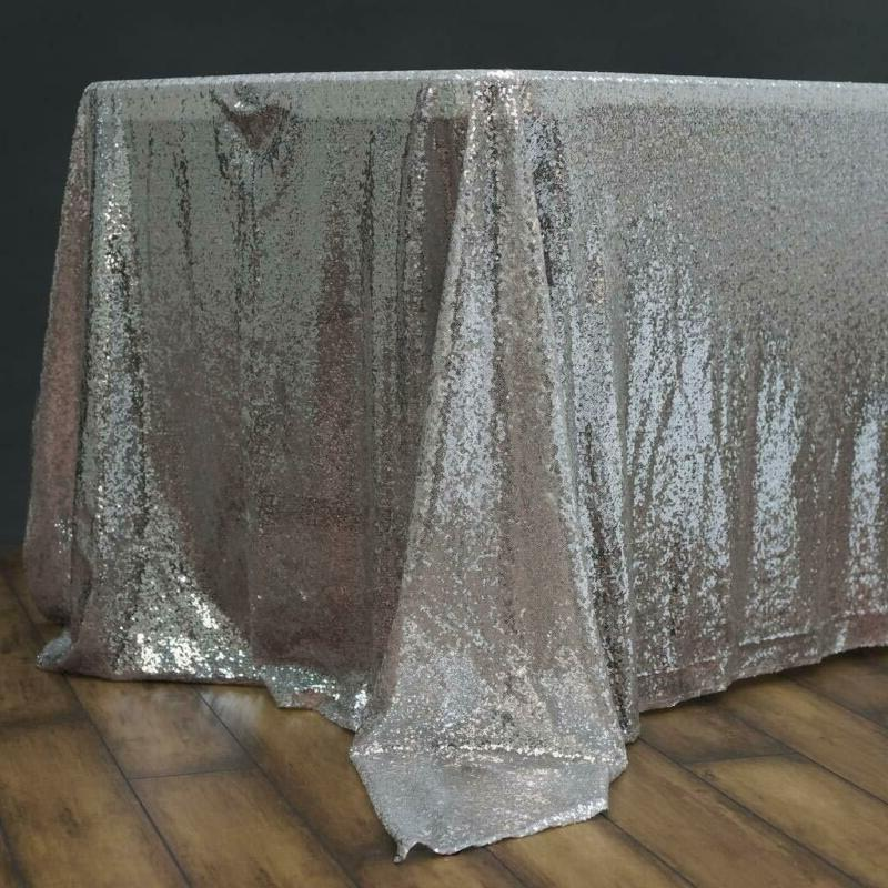 BalsaCircle 60x102-Inch Silver Rectangle Tablecloth for Wedd
