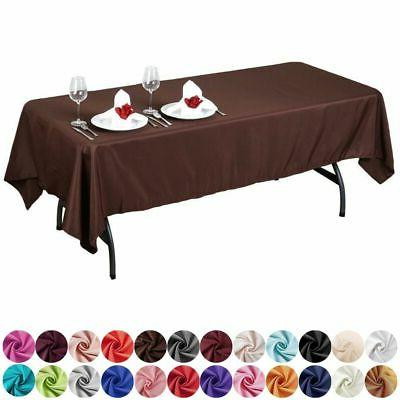 60x102 polyester rectangular tablecloth wedding catering tab