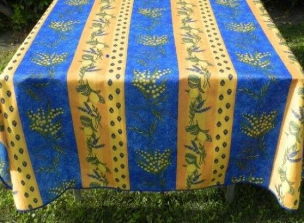 60X80 RECTANGLE BLUE FRENCH TABLECLOTH