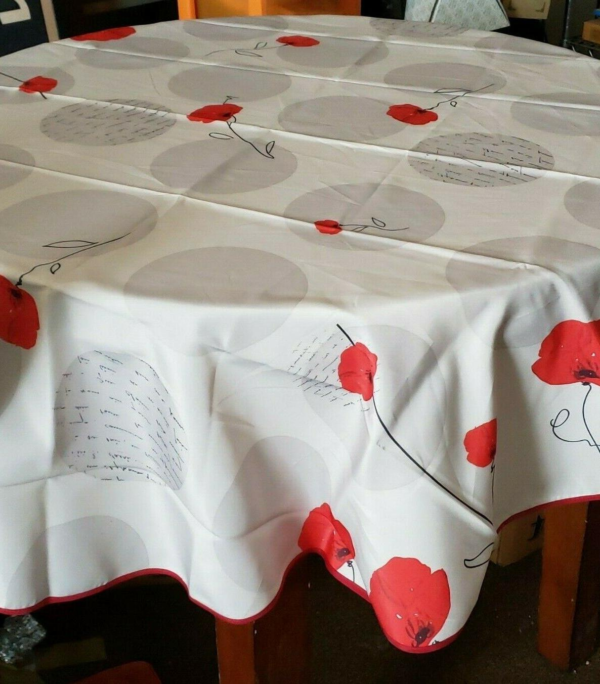 63 inch round tablecloth poppy seed stain