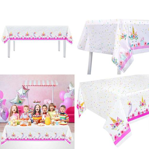 6pack plastic unicorn table cover disposable tablecloth
