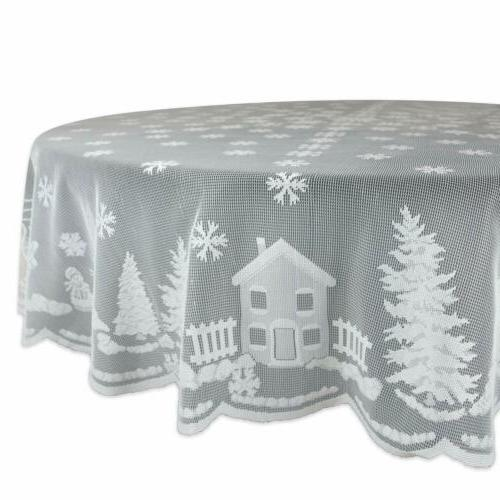 70 christmas kitchen table cover holiday snow