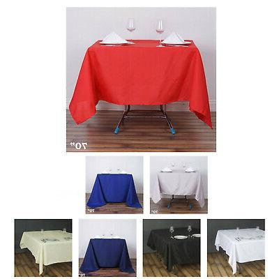 70 premium square tablecloth for wedding party