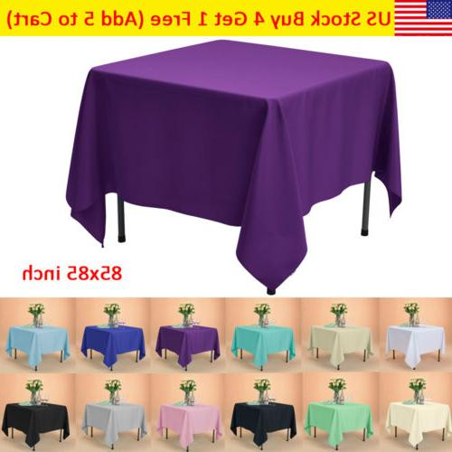 85x85 square tablecloth polyester table cover