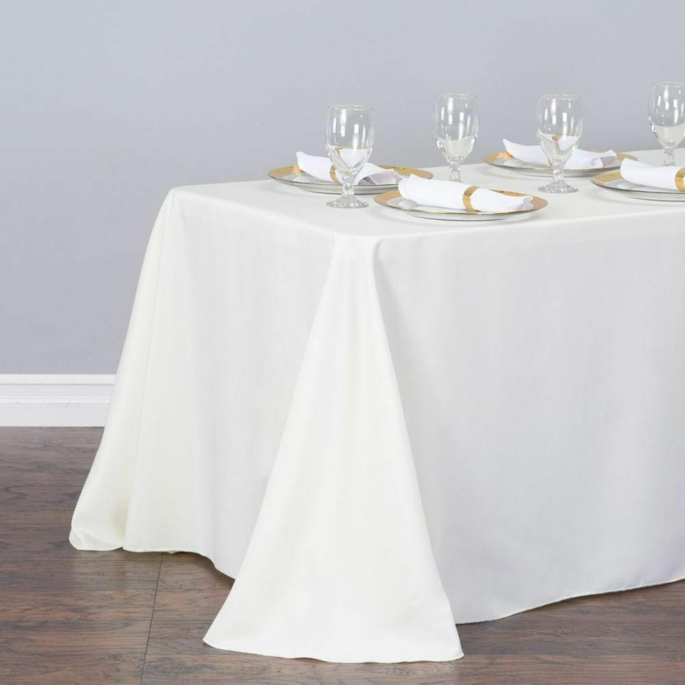 LinenTablecloth 90 in. Rectangular Wedding Event