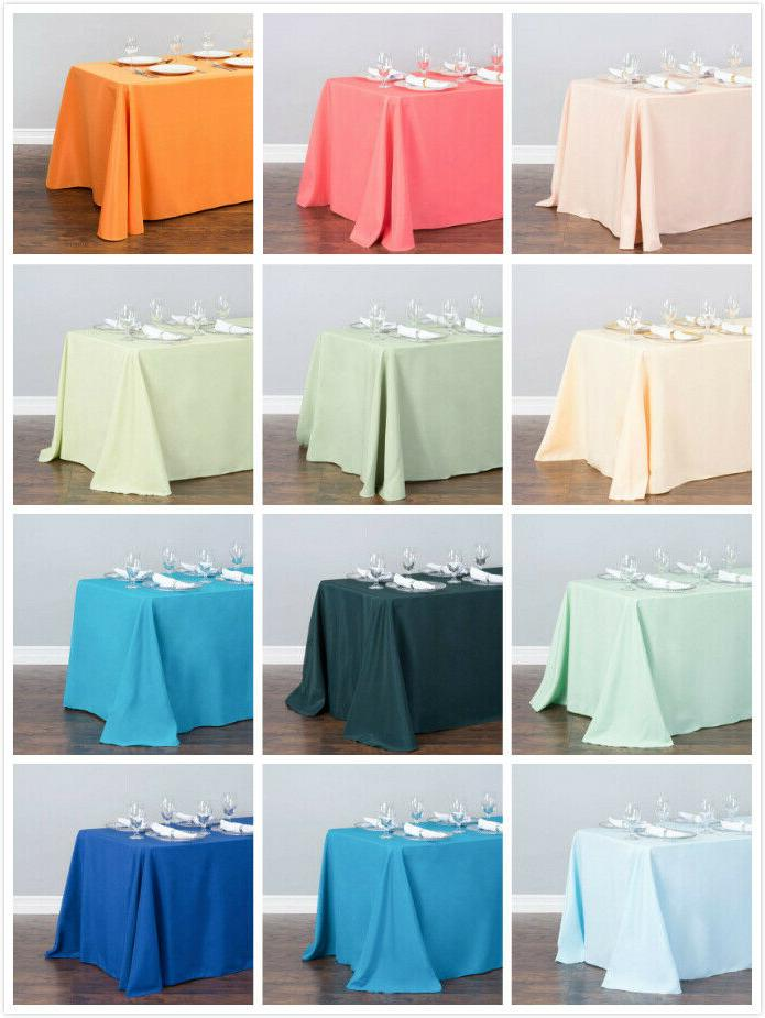 LinenTablecloth 90 x in. Rectangular Wedding