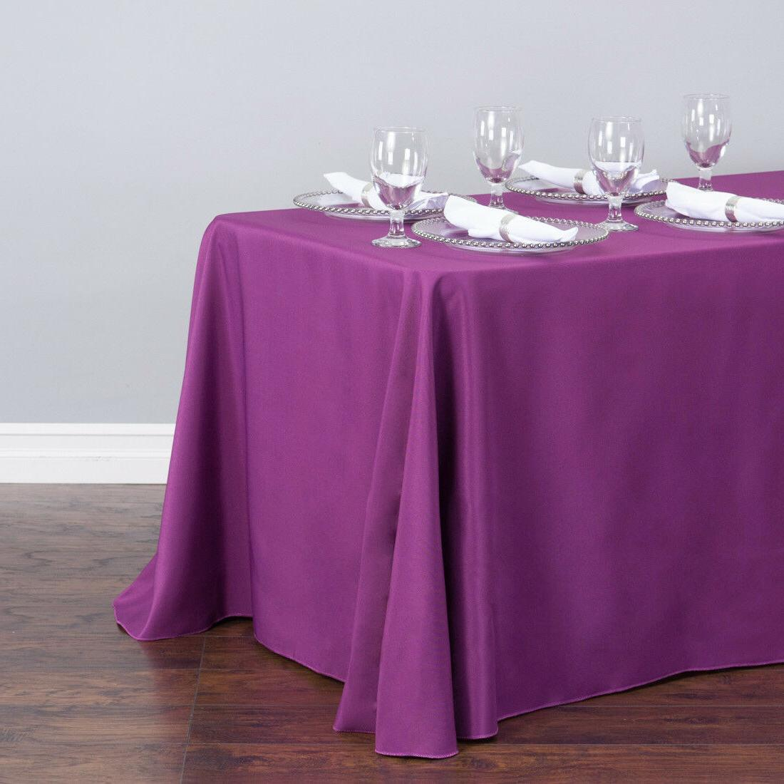 LinenTablecloth in. Rect Poly Color! Wedding Event