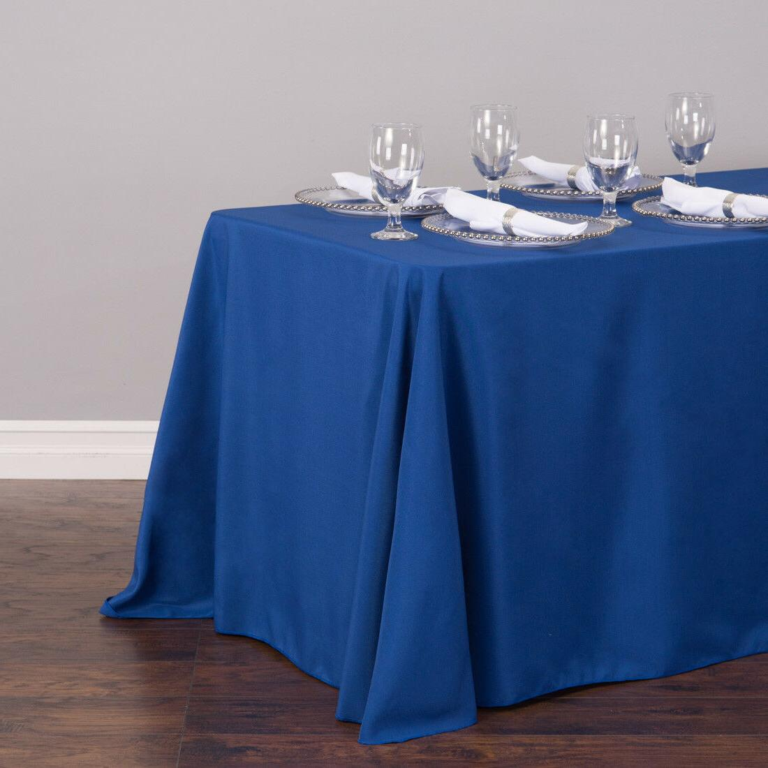 LinenTablecloth 90 in. Rect Tablecloths,33 Color!