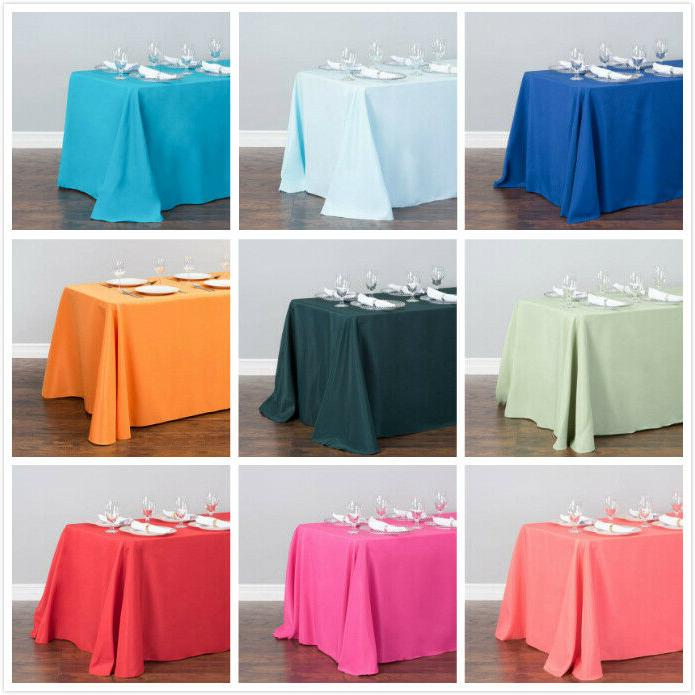 90 x 156 in rectangular poly tablecloths