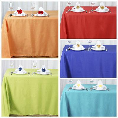 90x156 polyester tablecloth wedding table linens catering