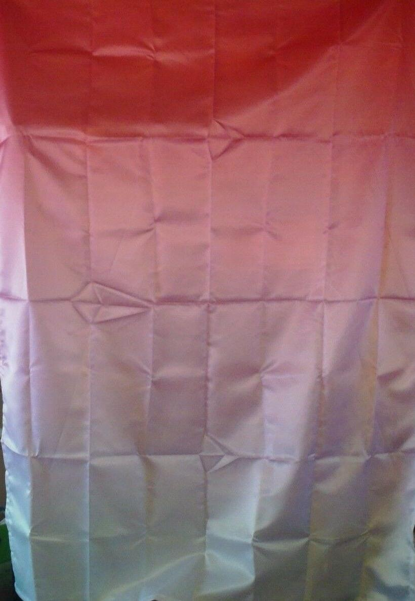 AMBESONNE TABLECLOTH HOUSE DECOR OMBRE TWO-TONED CORAL WHITE
