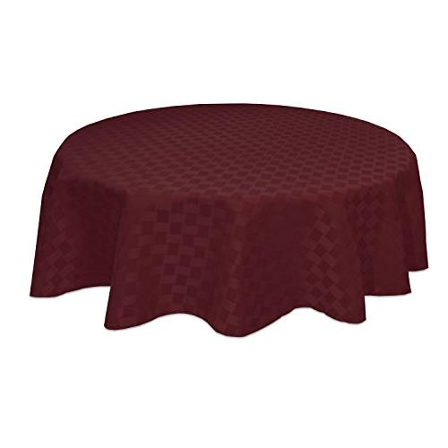 "Bardwil Linens Reflections 70"" Round Tablecloth, Merlot"
