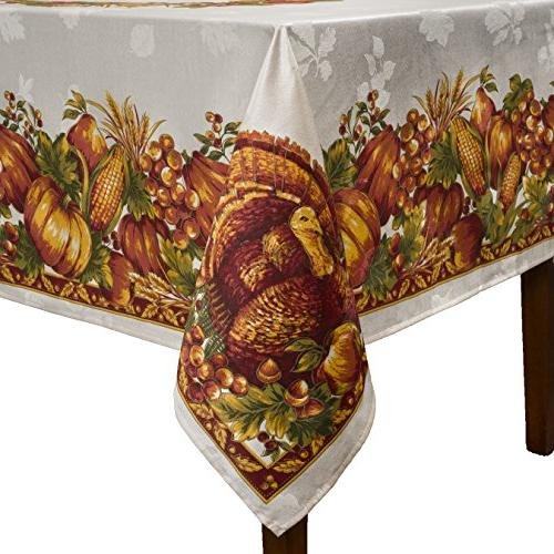 Benson Harvest Engineered Printed Fabric 60-Inch-by-120 Inch