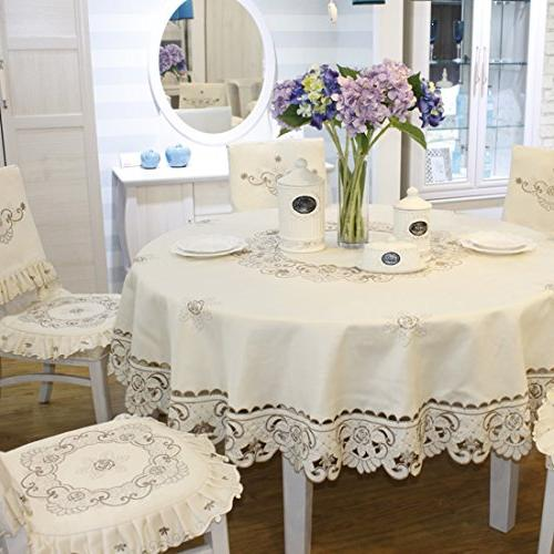 Brown Embroidered lace Small Table Rectangular