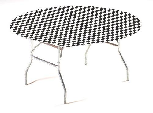 Creative Converting Round Stay Put Plastic Table Cover, 60-I