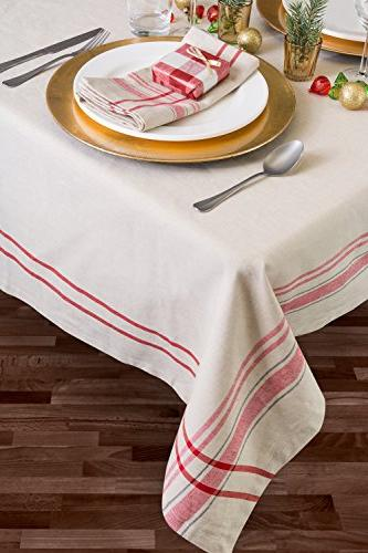 DII 100% Cotton, Washable, Everyday Kitchen Parties, Picnics 6 to 8 Red