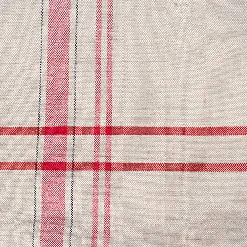 DII 100% Cotton, Washable, Everyday French Kitchen Tablecloth Parties, & Picnics 6 8 Red