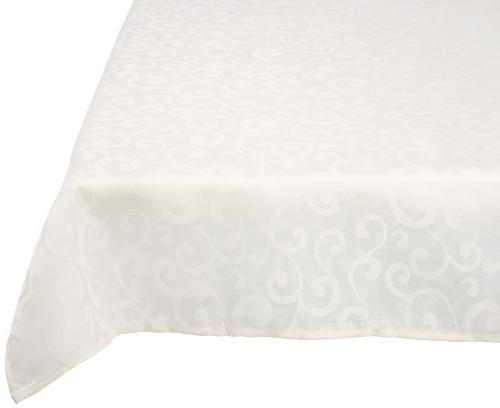DII 100% Polyester, Damask, Machine Washable, Holiday Tablec