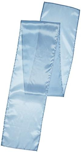 LinenTablecloth 14 x 108-Inch Satin Table Runner Baby Blue
