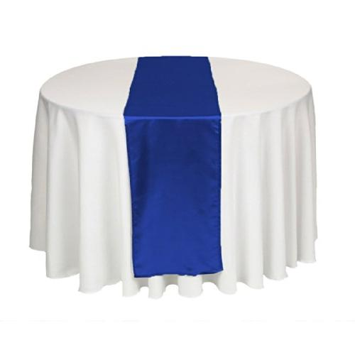 LinenTablecloth 14 x 108-Inch Satin Table Runner Royal Blue