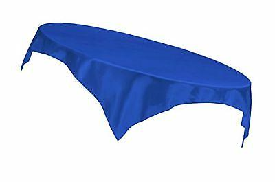 LinenTablecloth 60-Inch Square Satin Overlay Royal Blue
