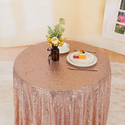 Trlyc Rose Sequin Tablecloth Party