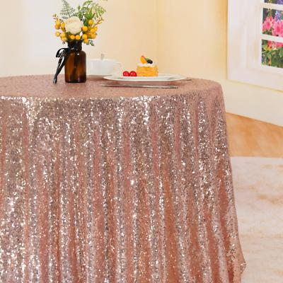 Trlyc Sequin Round Tablecloth Wedding Party Home