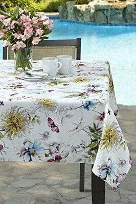 blooming floral indoor spillproof tablecloth