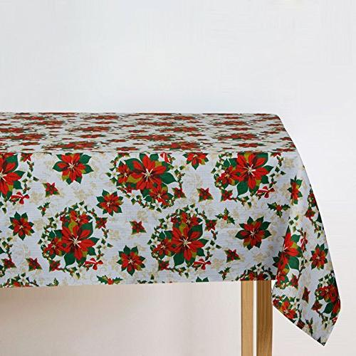 blossomed flowers waterproof table cloth