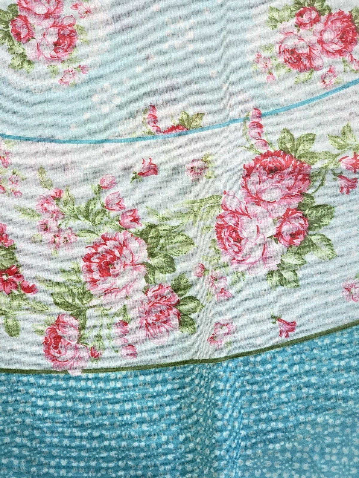 White Floral rectangle
