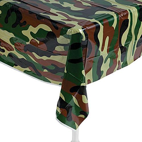 camouflage plastic tablecover camo tablecloth