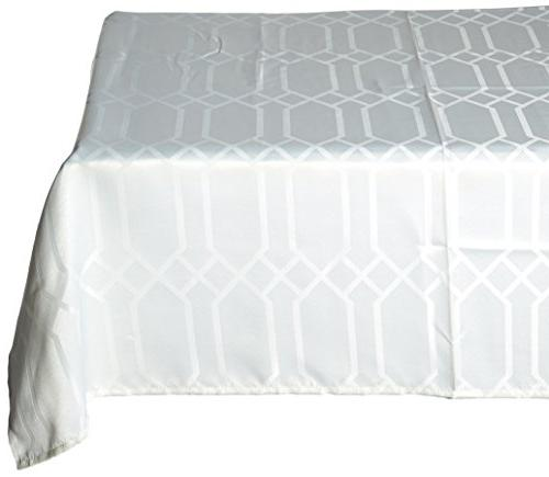 Benson Mills Fabric Tablecloth, 60 104-Inch, White