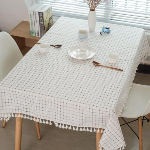 ColorBird Tablecloth Cotton Dust-Proof Table Cover