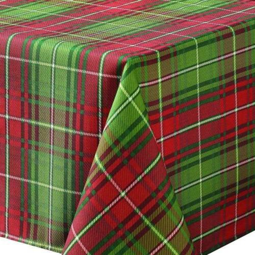 Benson Mills Christmas Plaid Printed Tablecloth, by 84-Inch