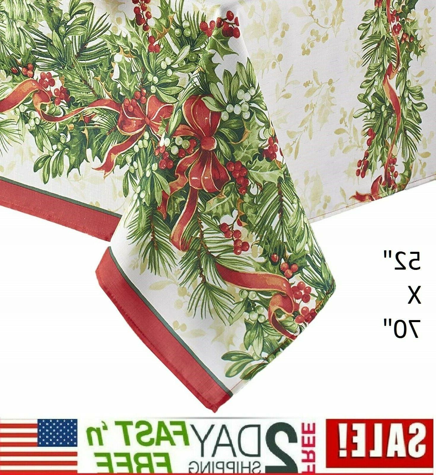Benson Mills Christmas Ribbons Engineered Printed Fabric Tab