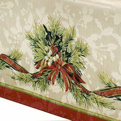 Benson Mills Ribbons Engineered Printed Tablecloth,