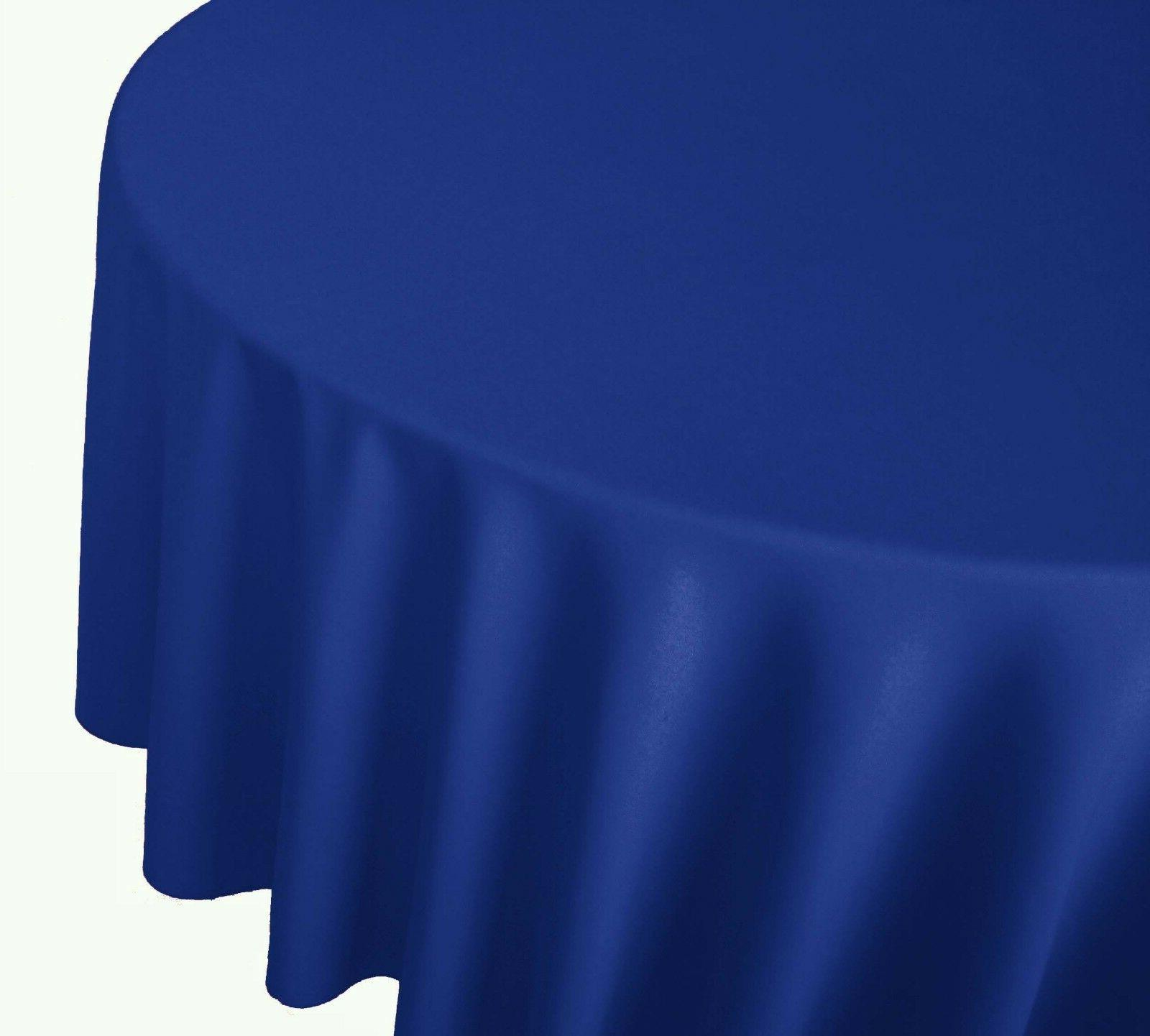 circle polyester tablecloth table cover for party