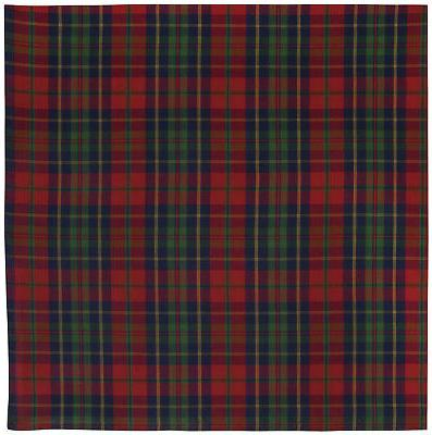 cotton red blue green plaid