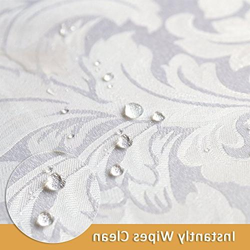 ColorBird Scroll Tablecloth Waterproof Table for Kitchen Dinning