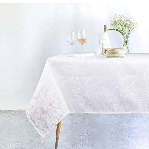 ColorBird Jacquard Tablecloth Table Cover for Dinning Linen