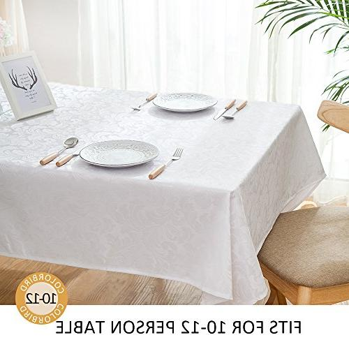ColorBird Scroll Damask Tablecloth Spillproof Table Dinning Decor