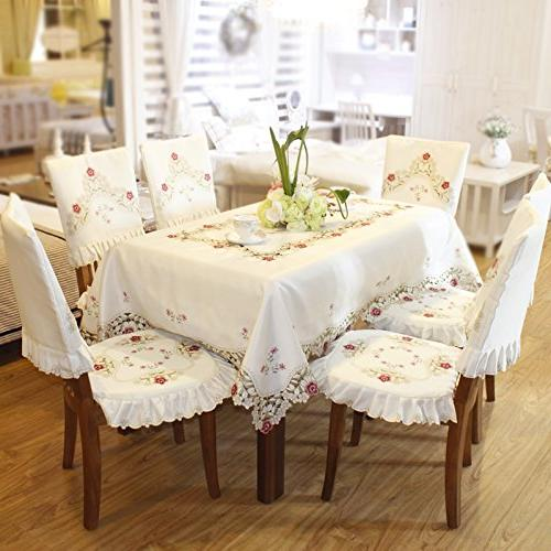 Damask Cream Floral Rectangular 60 86 inch Approx