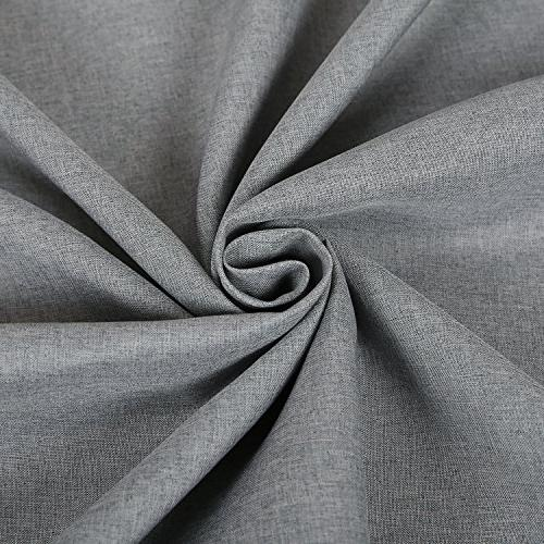 Deconovo Wrinkle Spillproof Grey for 54x72 Inch