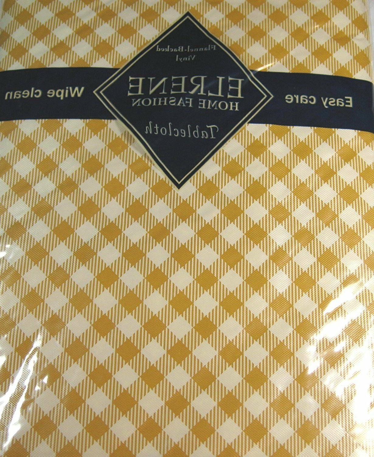 diamond checks vinyl flannel back butterscotch