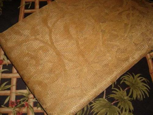 Benson Mills Scalloped Tablecloth GOLD NEW